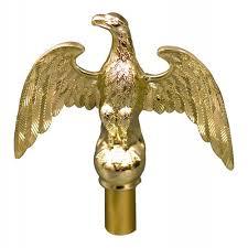 indoor flag pole eagle 7 brass plated aluminum american