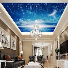 Roof Decoration | 3d photo wallpaper blue sky wallpaper mural ceiling living room