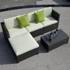 Wicker Patio Furniture Ebay Amazon Com 5pc Outdoor Patio Sofa Set Sectional Furniture Pe