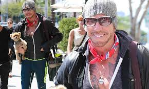 Mickey Rourke News Newslocker - mickey rourke wears unflattering outfit as he takes dog out in