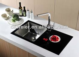 Black Glass Kitchen Sinks Gtb8848r Black Tempered Glass Kitchen Sink Buy Tempered Glass