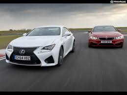 lexus rcf vs f type lexus rc f vs bmw m4 pic of the week pistonheads