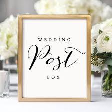 Ideas For Wedding Programs Wedding Post Box Printable Sign 8x10 8 5x11 And A4 Wedding Ideas