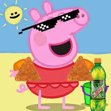 Peppa Pig Meme - mlg peppa pig goes to the beach youtube