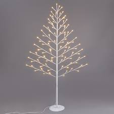 pre lit 4ft 96 led white twig branches tree lights l