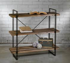 rustic metal shelves rustic raw wood open shelf bookcase chairish raw wood shelves
