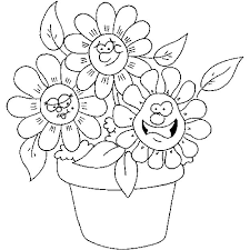 kids under 7 flowers coloring pages