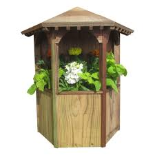 Wall Mount Planter by Samsgazebos 9 In W X 19 In H Treated Wood Wall Mount Gazebo