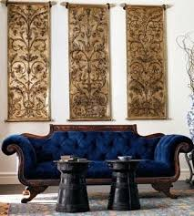 Navy Blue Sofas by Amazing Navy Blue Velvet Vintage Antique Sofa Inspiring Spaces