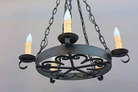 Antique Iron Chandeliers 1920s Simple Wrought Iron Chandelier At 1stdibs