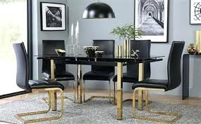 gold dining table set black and gold dining room set black and gold dining table with