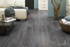 living room with gray laminate flooring and laminated