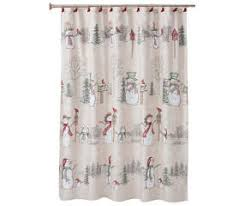 Birdhouse Shower Curtain Rustic Cottage Collection Snowman Land Shower Curtain U0026 Hooks Set