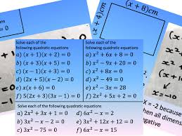 solve a quadratic factorising