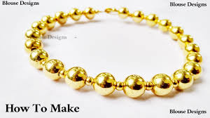 yellow gold bracelet with pearls images How to make bead bracelet with gold beads easy diy beadwork jpg