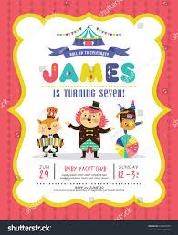What Is Rsvp In Invitation Card Kids Birthday Party Invitation Card Circus Stock Vector 631861679