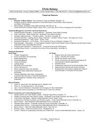 musical theater resume template sample cover letter f saneme