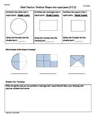 3 g 2 partition shapes 3rd grade common core math worksheets 3rd
