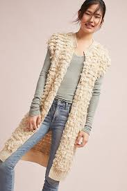 looped lengths sweater vest anthropologie