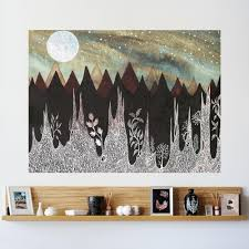 aurora borealis and the ice forest wall sticker celestial art by eli aurora borealis and the ice forest wall sticker celestial art by elise mahan