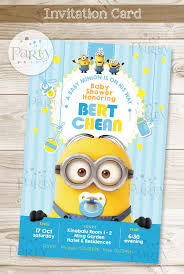 minions baby shower print it yourself digital copy minions baby shower