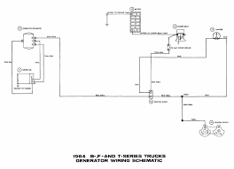 generator wiring schematic diagrams of 1964 ford b f and t