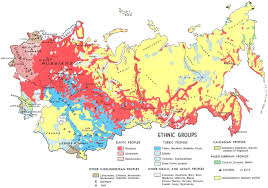 Ussr Map Russian Soviet Forced Migrations Deportations And Ethnic