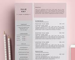 elegant easy to customize resumes by resumegalleria on etsy