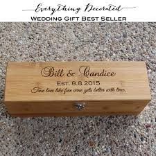 personalized wooden gifts wedding wine box personalized wooden wine box anniversary wine