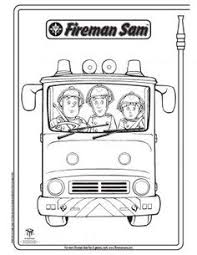 fireman sam coloring picture coloring pages pinterest