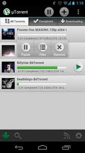 utorrent android utorrent for android now available for