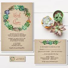 Inexpensive Wedding Invitations Succulent Wedding Invitations Rustic Burlap Wedding Invitation