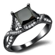 black wedding rings for 25 black diamond engagement rings for your side unique