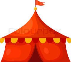 circus tent vector flat design stock vector colourbox