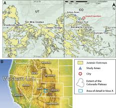 Map Of Southwest Colorado by Middle Jurassic Landscape Evolution Of Southwest Laurentia Using