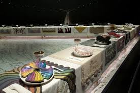 judy chicago dinner table the dinner party by judy chicago walks of new york