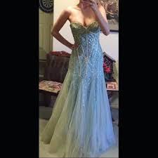 Light Blue Mermaid Dress 37 Off Jovani Dresses U0026 Skirts Jovani Light Blue Sequin Tulle