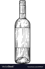wine bottle engraving wine bottle drawing engraving ink royalty free vector image