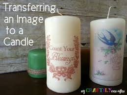 personalize candles transferring an image to a candle easy gift series my craftily