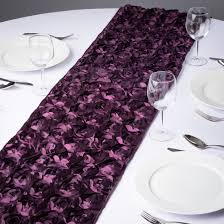 eggplant colored table linens inspire an air of romance at your special event with an eggplant
