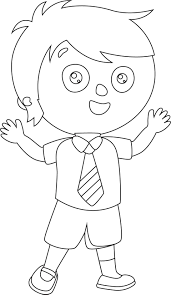 child student coloring page with glum me
