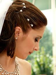 bridal veil ideas for short hair styles