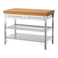 stainless steel kitchen island ikea rimforsa work bench stainless steel bamboo 120x63 5x92 cm ikea