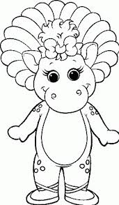 charming barney coloring colouring pages 1 barney and baby bop