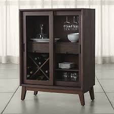 Hide A Bar Cabinet Bar Cabinets And Bar Carts Crate And Barrel