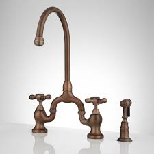 vintage kitchen faucet ponticello bridge kitchen faucet with side spray cross handles