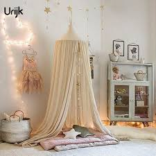 Canopy Bedding Urijk 1pc Baby Bedding Dome Hanging Bed Canopy Mosquito Net