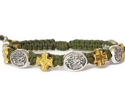 battle saints bracelets st michael archangel etsy