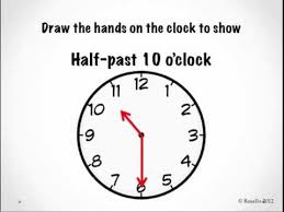 telling time to the half hour youtube