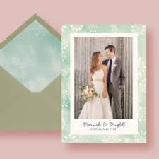 Newly Wed Christmas Card Kraft Paper Modern Holiday Moving Card Letter Loft